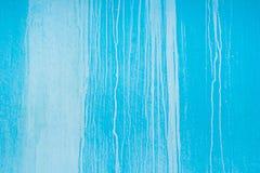 görad randig bakgrundsblue Väggtextur med stekflottmålarfärg Royaltyfria Bilder