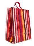 görad randig färgrik shopping för påse Royaltyfria Bilder