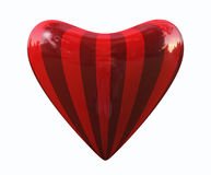 görad randig hjärta Arkivfoton