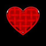 görad randig hjärta Arkivbild