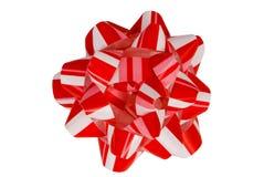 görad randig isolerad red för bow gåva Fotografering för Bildbyråer