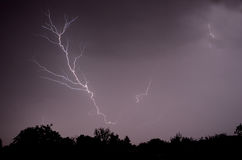 Görande ljusare storm royaltyfri fotografi