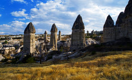 Göreme National Park, Turkey. Unique rock formations at Goreme National Park Cappadocia, Turkey Stock Photo