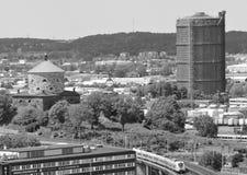 Göteborg med nu gon-gasklockan Arkivbild
