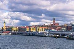 Göteborg Sverige - April 14, 2017: Panorama av kusten av Go Royaltyfria Bilder