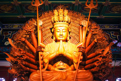 Göttin der Gnaden-hölzernen Statue Stockfotografie