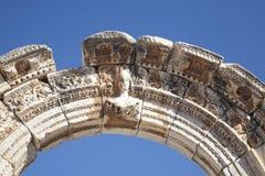 Göttin des Vermögens am Tempel von Hadrian Stockfotos