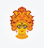 Göttin Durga Face Illustration Stockbilder
