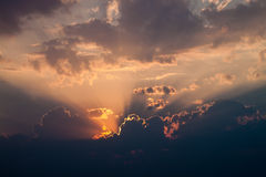 Göttlicher Sonnenuntergang stockfotografie
