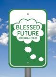 Göttliches Zeichen, gesegnet Zukunft Stockbild