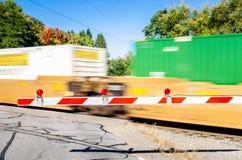 Güterzug in der Bewegung Stockbild