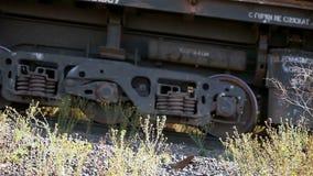 Güterzug, industrielles Äußeres stock video