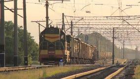 Güterzug-Züge stock video footage