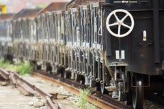 Güterzugbahnunschärfe Stockfotografie