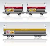Güterzuggefahrenflüssigkeit Stockfotografie