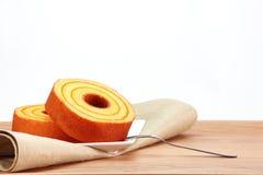 Gąbka tort, pomarańcze Zdjęcie Stock