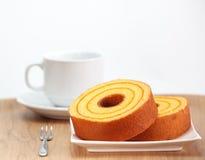 Gąbka tort, pomarańcze Zdjęcie Royalty Free
