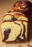Gąbka tort z orzechami włoskimi i kakao obrazy stock