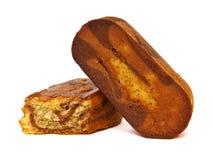 Gąbka torta bar z kakao obrazy stock