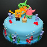 Gąbki Bob tort Zdjęcie Royalty Free