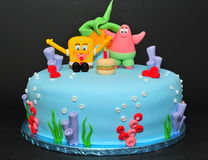 Gąbki Bob tort obrazy stock