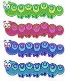 gąsienice śmieszne ilustracja wektor