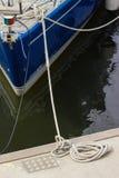 Gęsta arkana na żaglówce i pokładzie jacht Fotografia Stock