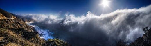 Gęsta mgła Nad Dużym Sura krajobrazem Obraz Royalty Free