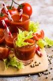 Gęsty pomidorowy sok z selerem fotografia royalty free