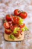 Gęsty pomidorowy sok z selerem zdjęcia royalty free