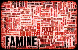 głód Obraz Stock