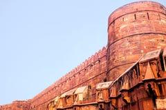 Główna ściana Czerwony Ford w Agra, India Obraz Stock