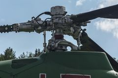Główna śruba helikopter z pionowo osią obracanie zdjęcie stock