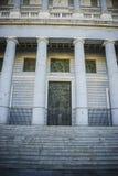 Główna brama, Almudena katedra, lokalizować w terenie Habsbu fotografia stock