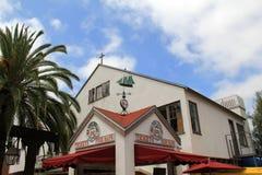 Główna droga w miasteczko, z budynkami które zapraszają tourisim, Stary miasteczko, San Diego, Kalifornia, 2016 Obraz Stock