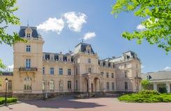 Główna fasada Potocki pałac w Lviv, Ukraina Zdjęcie Stock
