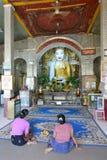 Główna modlenie sala Shwe-kyet-kya pagoda mandalay Myanmar fotografia royalty free