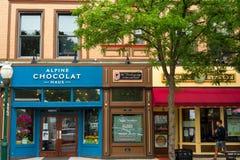Główna Ulica sklepy zdjęcie stock