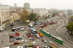Główna ulica w Belgrade, Serbia zdjęcie royalty free