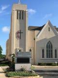 Główna Ulica Zlany kościół metodystów, Kolumbia, Południowa Karolina zdjęcie royalty free