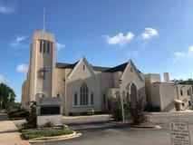 Główna Ulica Zlany kościół metodystów, Kolumbia, Południowa Karolina obrazy royalty free