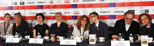 Main jury press-conference of 41st Moscow International Film Festival