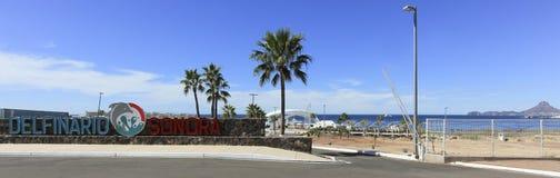 Główne wejście Delphinario Blisko San Carlos, Guaymas, Sonora, obrazy stock