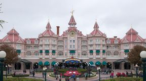 Główne wejście Disneyland park Paryż fotografia royalty free