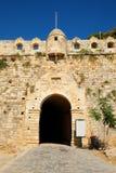 Główne wejście forteczny Fortezza w mieście Rethymno, Crete Zdjęcie Stock
