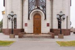 Główne wejście kościół Wszystkie święty przy Mamayev Kurgan obrazy royalty free