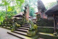 Główne wejście kraj świątynia w Świętym Małpim lesie, Ubud, b fotografia royalty free