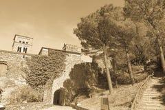 Główne wejście monaster Sant Pere De Rodes Girona, Ca obraz royalty free