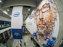 Główne wejście NetApp wglądu 2017 konferencja w Messe Berlin Zdjęcia Stock