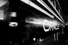 Główne wejście Oracle konferencja openWorld zdjęcie stock